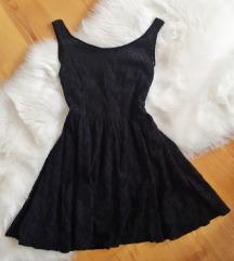 Amisu cipkana crna haljina