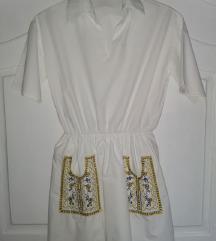 Vintage bela kosulja/tunika/haljina