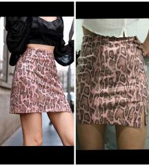 Novo! Suknja sa zmijskim printom