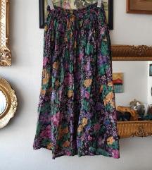 VINTAGE suknja od viskoze