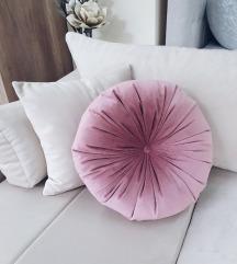 Handmade okrugli jastuk - roze boja