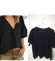 Basic V Neck  crop oversized uvozna majca
