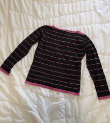 30. Pamučna majica dugih rukava, crno roze pruge
