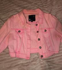 Roze crop teksas jakna