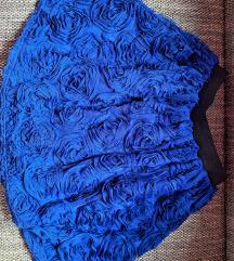 Plava duboka suknja u Mihano Momosa stilu