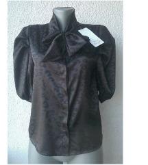 crna košulja sa mašnom br M BLU ROYAL