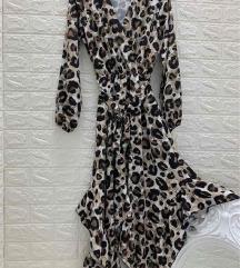 Nova leopard print lepršava midi haljina
