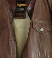 Fratteli kozna braon jakna kao nova vel.S