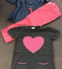Pantalone, kosuljica i tunika od trikotaze
