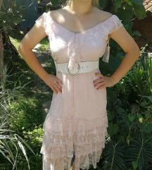 Cipkana roze haljina