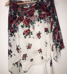 Cvetna bluza na vezivanje