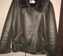 Zara biker maslinasta jakna