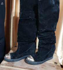 Crne cizme sa platformom