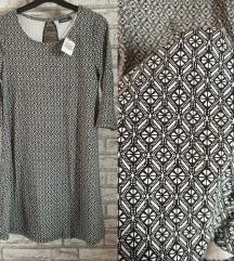 NOVA Crno bela haljina/tunika sa etiketom S-M