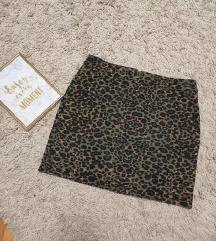 maslinasta leopard suknja