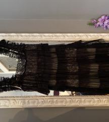 Mango crna cipkasta haljinica