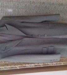 Sivi sako mantil