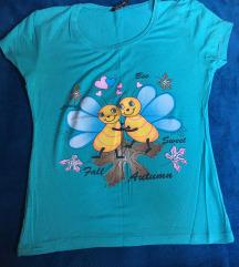 Plava decija majica sa pcelicama
