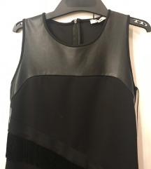 Koron crna haljina sa resama