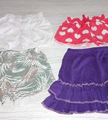 Dva šorca i suknja devojčice 7godina