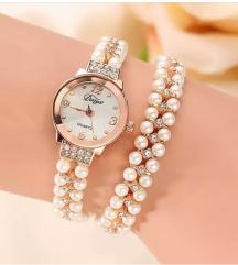 Ručni ženski sat sa perlama