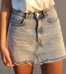 ZARA mini teksas suknja