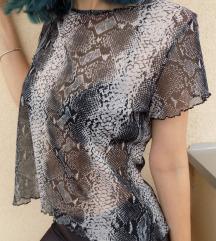 90's transparentna sneak print majica