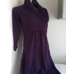 H&M ljubicasta zimska haljina XS/S