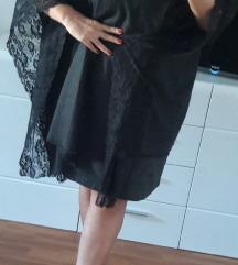 Elegantni crni pončo sa čipkom