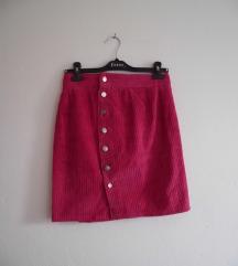 Button down mini suknja od somota