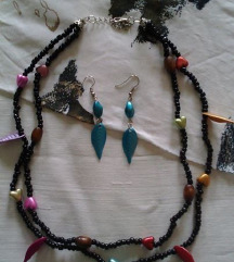 Komplet ogrlica i minđuše