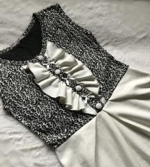 Leopard haljina sa mašnicama SNIŽENO