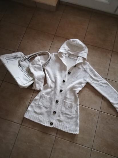 Džemper - jakna, mlecno bela, za proleće