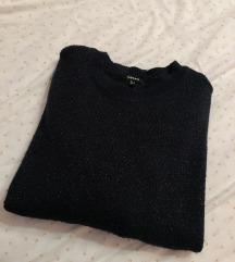 Koton džemper sa šljokicama teget boja
