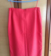 Suknja koralne boje