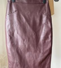 Kožna suknja caliope XS