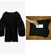 Zara bluza sa puf rukavima nova