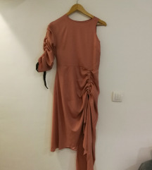 Asos pink one shoulder dress