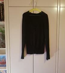 Crni FB sister pulover na kopčanje