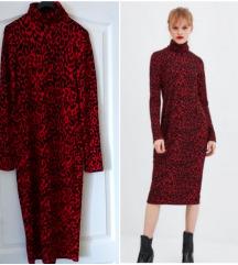 Zara animal midi haljina S-M