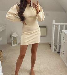 Zara krem korset haljina NOVA sa etiketom