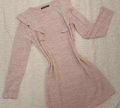 Svetlo roze haljina dugih rukava