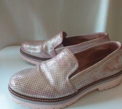 Metalik roze cipelice PRAVA KOZA