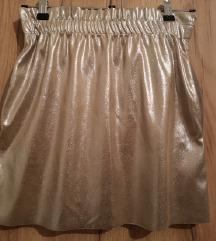 Zara metalik zlatno-srebrna suknja S