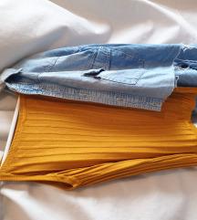 Oker končana majica na bretele