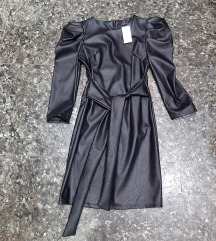 NOVA markirana kozna haljina sa etiketom, S