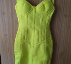 Neon herve bandage haljina NoVo