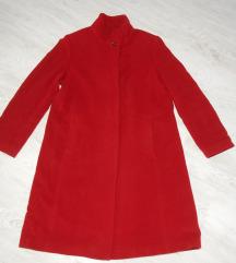 Divan crveni DINOMODA kaput VUNA/KAŠMIR