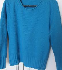 Tirkizni lagani džemper, trikotaža