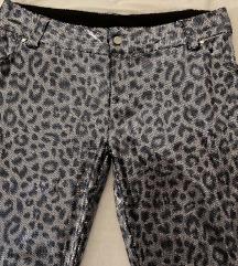 Zara leopard sequin pantalone